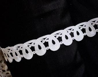 Silver big loops cutwork trim
