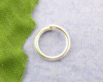 100 - 8mm Silver Plated Jump Rings