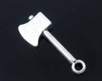 7 - Double Sided Silver Axe Charms