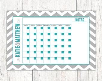 Personal Calendar printable | Dry Erase Calendar Board | Printable Calendar pages | Perpetual Blank Calendars | family calendars 2017