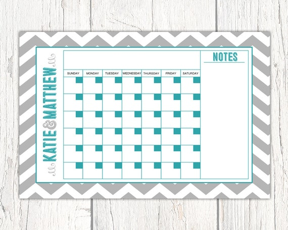 Personal Calendar printable Dry Erase Calendar Board