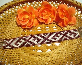 Handmade loom bracelet.