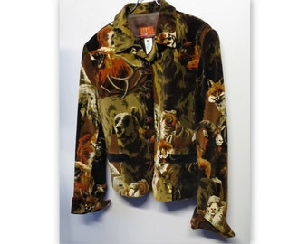 KENZO JUNGLE vintage jacket, 90s, on grounds of wild animals