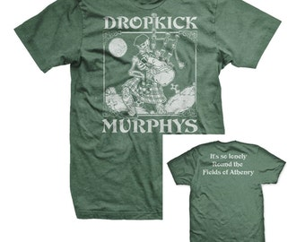 Dropkick Murphys Fields of Athenry Skeleton Piper Mens Shirt
