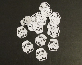 Inspired by Star Wars Storm Trooper Confetti 100pc Star Wars Confetti Star Wars Party Decorations Storm Trooper Party Star Wars Birthday