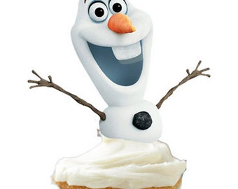 Olaf Cupcake Toppers