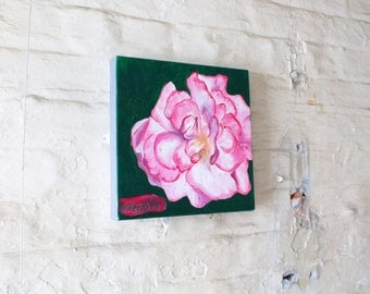Original Painting, Pink Flower