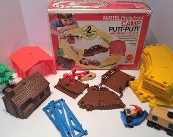 Vintage Mattel Preschool Camp Putt-Putt with Motor Camper No. 7066 - box included