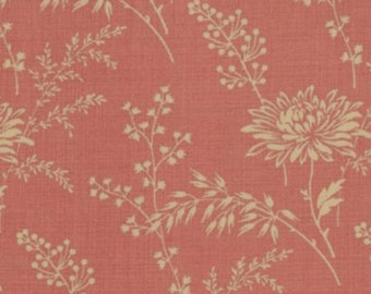 French General Red Floral, Fabric by the Yard
