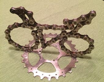 Bike chain bike statue