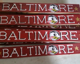 Baltimore Natty BOH Hand Painted Sign