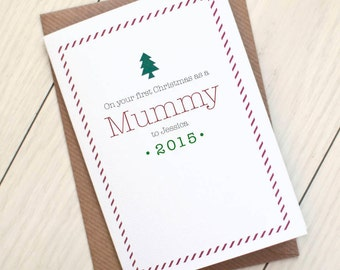 Personalised 'First Christmas as a Mummy' - christmas card from baby - christmas card for new mum - personalized christmas card