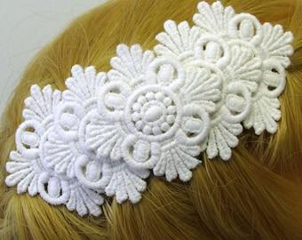 White or Black Lace Decorative Comb Hair Accessories Fascinator