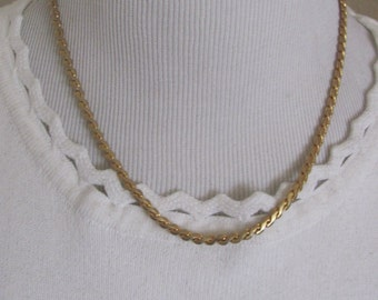 """Beautiful Gold Plated Chain 17"""" Inch Long Necklace Choker  (20E) Affordable Jewelry!!!"""