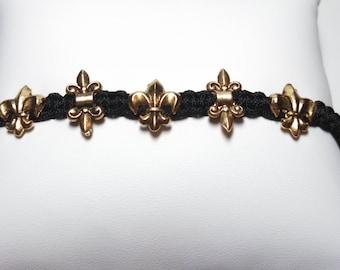Multi Fleur de Lis, Black and Gold