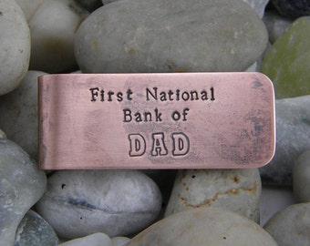Copper Money Clip - First National Bank of DAD