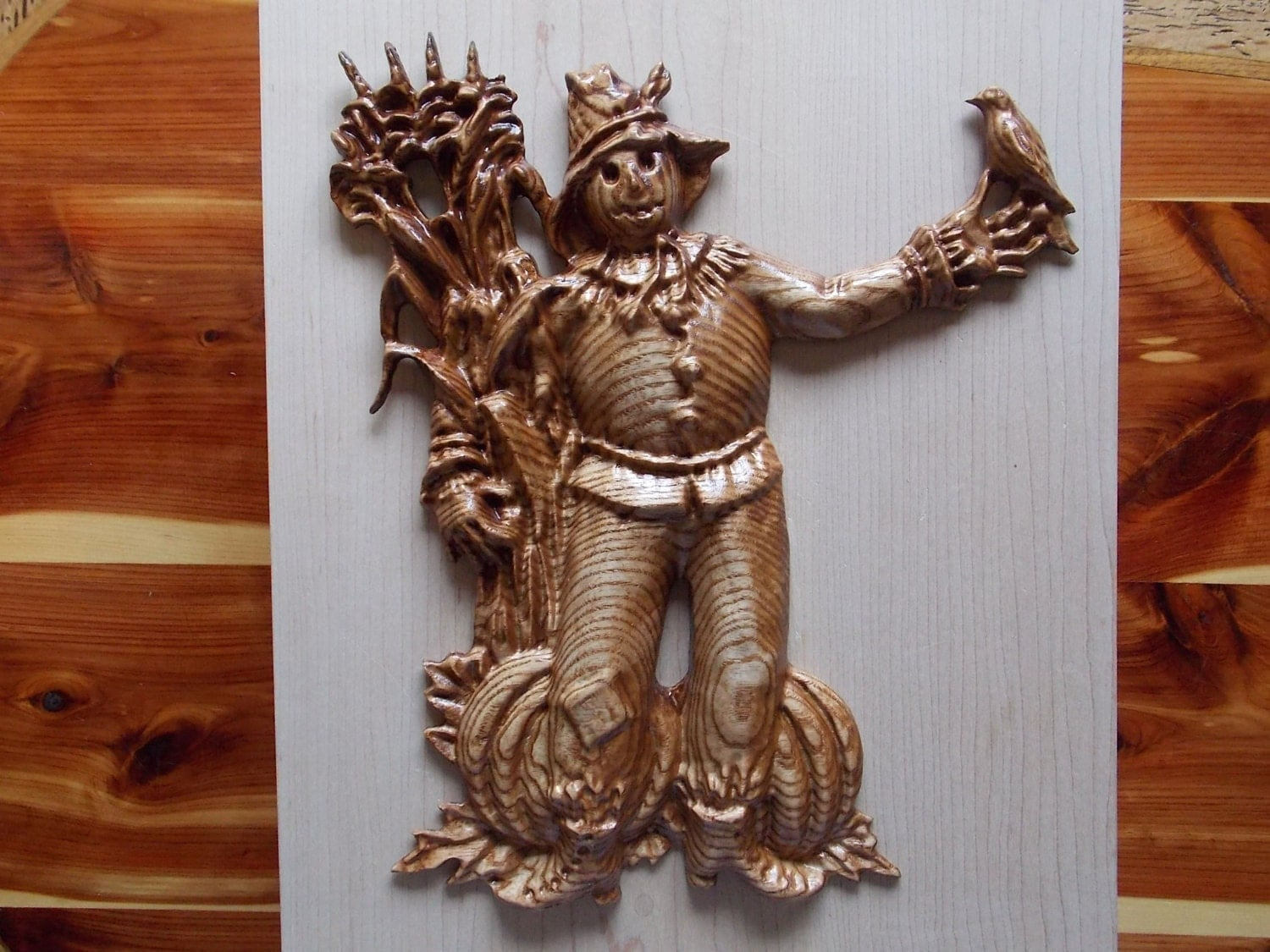 Wood scarecrow fall decor wooden