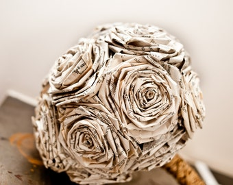 Novel Book Bouquet Wedding Flower Paper Bouquet Gift for Girlfriend Fiancee Wife Bridal Bridesmaid Groom Lapel Pin Buttonhole Boutenniere