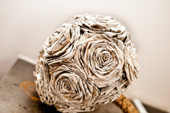 Novel Wedding Gifts: Novel Book Bouquet Wedding Flower Paper Bouquet Gift For