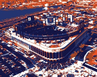 New York Mets Art, Citi Field, New York, Canvas Print, Baseball Art