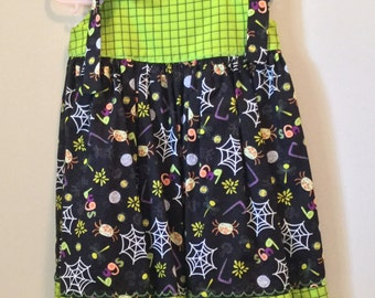 Size 4 and 5 Halloween Dresses | ready to ship | handmade clothes | cotton clothes | dress with witches | girl's clothes
