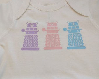 Daleks - Doctor Who baby onesie