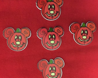 Set of 5 Mickey Halloween Pumpkin Resin