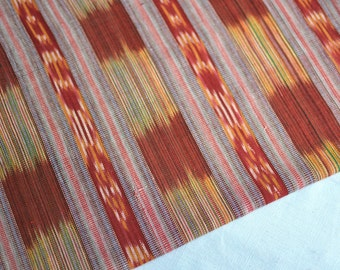 Ikat Fabric (#62) - Ethnic Fabric from Guatemala - Cotton Fabric by Yard - Brown tones - 1 Yard