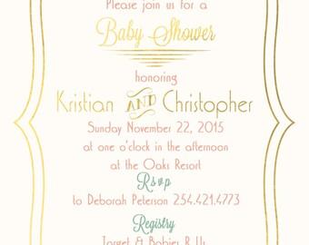 Floral Baby Shower Invitation - DIY Printable