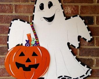 Ghost Door Hanger, Halloween Door Hanger, Custom Door Hanger, Fall Home Decor, Halloween Decor