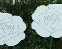 Paintable white roses/ alice in wonderland party craft/game/