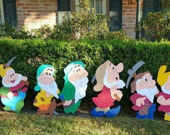7 dwarfs decorations/yard sign/wall art/room decor