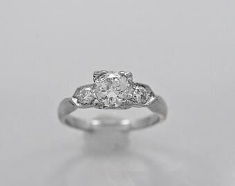 Antique Engagement Ring 1.00ct. Diamond & Platinum Art Deco - J36023