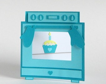 Oven Happy Birthday Card - Cute Birthday Card - Oven Birthday Card - Birthday Card for Her