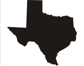Silhouette Texas Texas silhouette Etsy