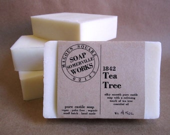 1842 Tea Tree - pure olive oil castile soap (vegan . organic . palm oil free)