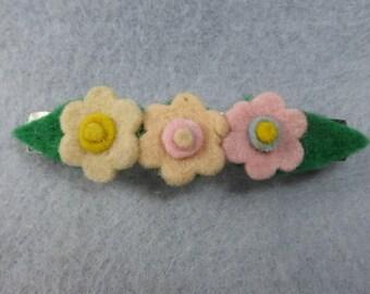 Felt Flower Clip - Felt Flower Barrette - Felt Barrette - Felt Clip - Flower Hair Clip - Artificial Flower - Fake Flower - Floral