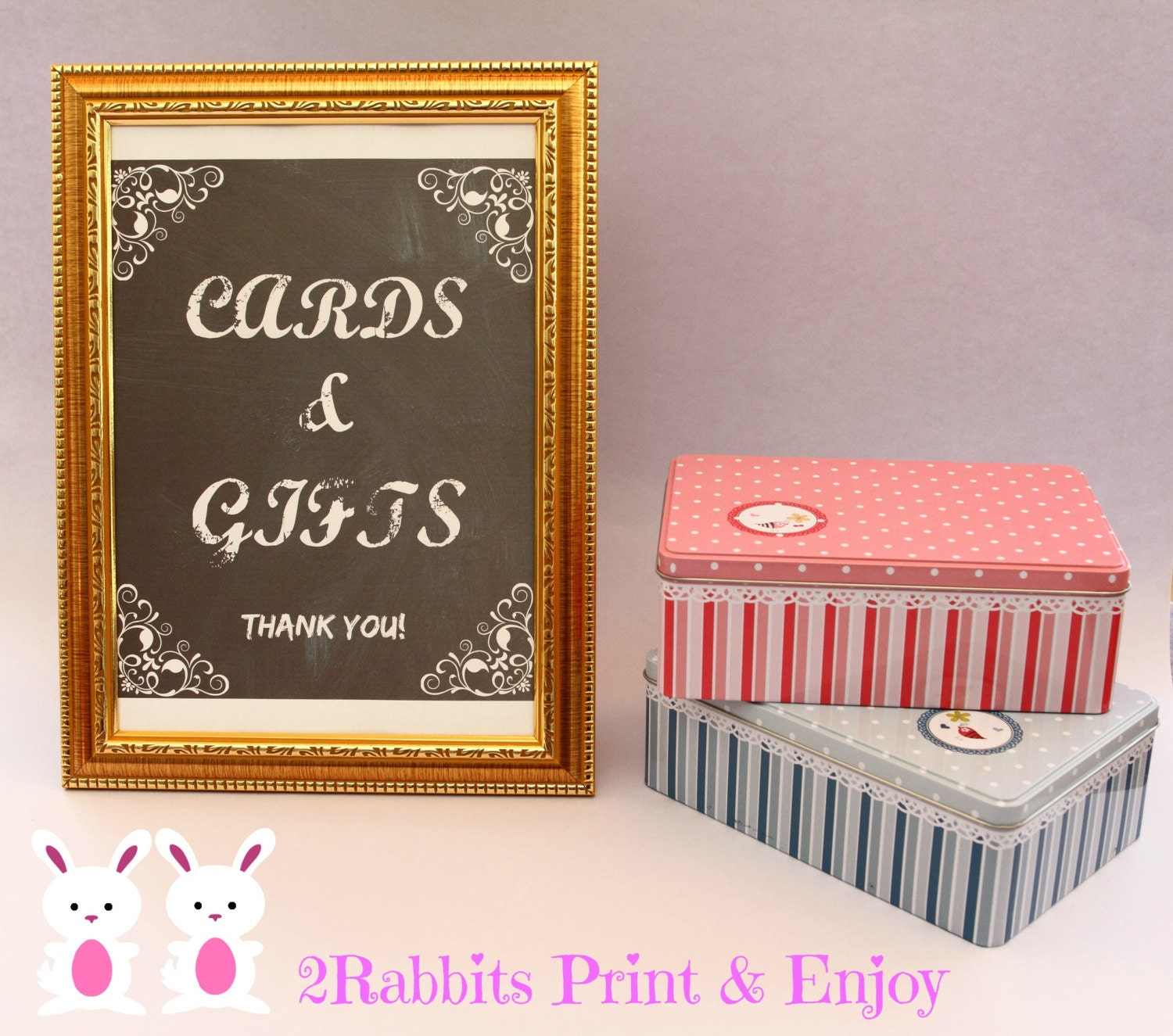 Thank You Sign For Wedding Gift Table : Cards & Gifts Thank You Sign for your Wedding Gift Table