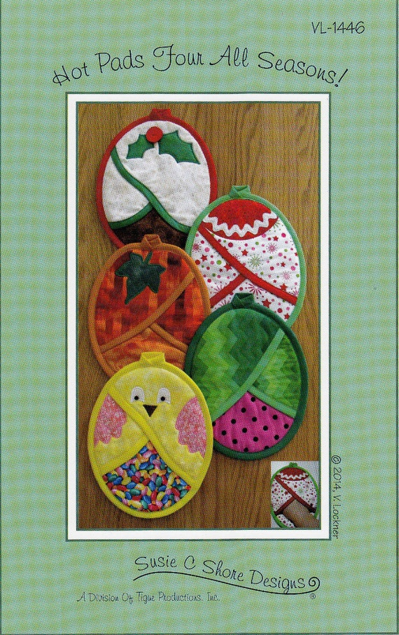 Hot Pads Four All Seasons By Susie C Shore Designs