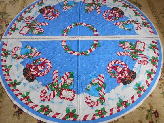 Daisy Kingdom Christmas Tree Skirt Fabric Panel