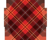 Easy to apply red plaid patch goes INSIDE the hole