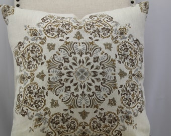 Kravet/Linen18x18,19x19,20x20, Pillow Cover,Throw Pillow,decorative pillow,same fabric on both sides.