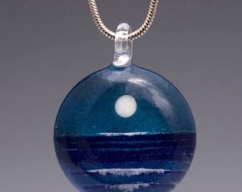 Blown Glass Jewelry-Moonrise Pendant
