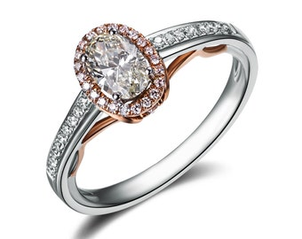 0.5 carat Oval Cut Moissanite Engagement Ring