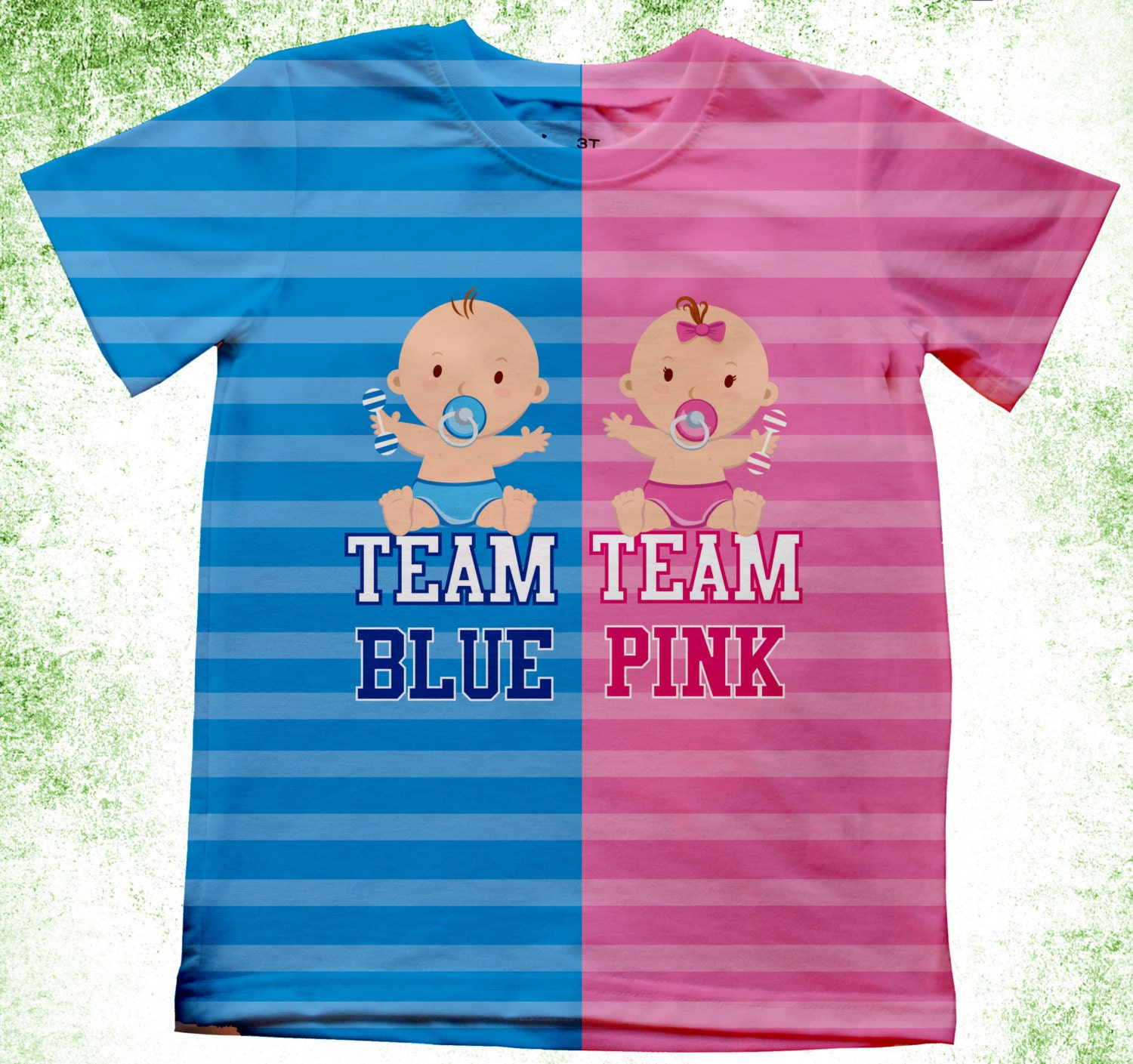 Personalized Adult Gender Reveal Shirts Team Boy or Team Girl