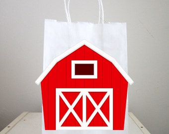 Farm Goody Bags, Barn Goody Bags, Farm Favor Bags, Barnyard Goody Bags, Farm Animal Goody Bags, Farm Birthday Party