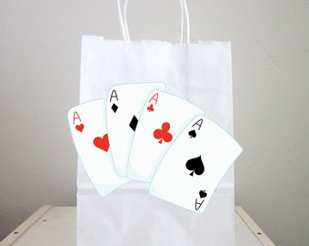 Playing Cards Goody Bags, Casino Party Goody Bags, Magician Goody Bags, Magician Favor Bags, Magician Gift Bags, Magician Party Bags