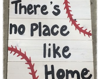 Baseball wooden sign