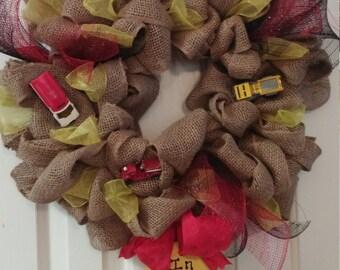 In memory fireman wreath