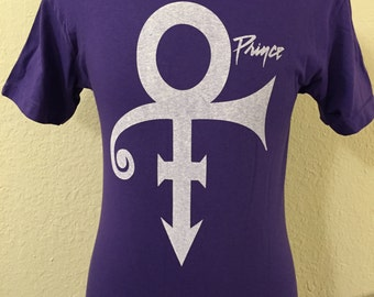 Prince Re production print purple t shirt Small